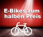 E-Bikes zum halben Preis