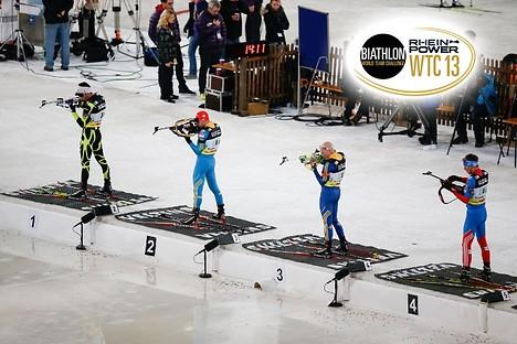 Zwei Tickets für den Biathlon World-Team-Challenge auf Schalke kaufen und nur eins bezahlen