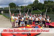 Gutschein für Mit modernen, knallroten Gummibooten über die Donau und dabei 50 % sparen! von Erlebnismax.de