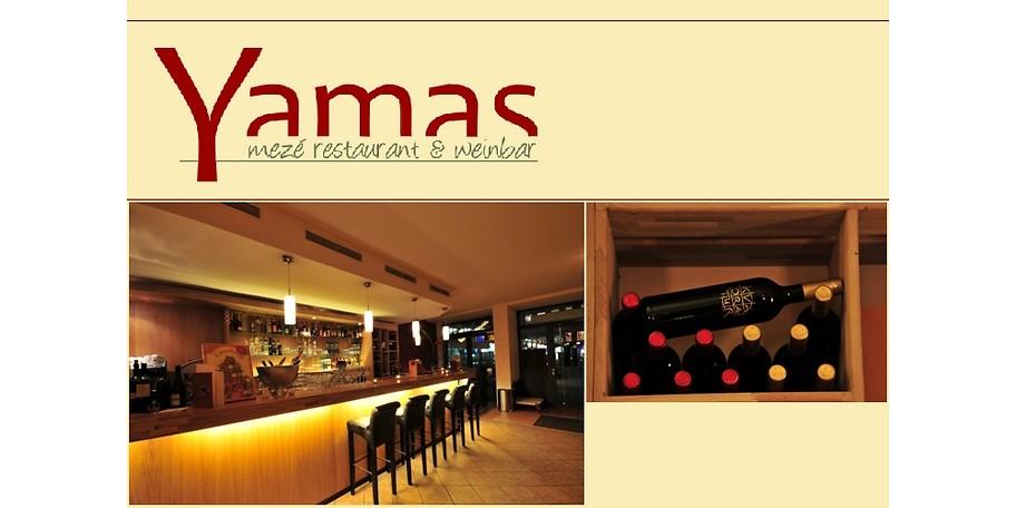 gutschein yamas mez restaurant weinbar 25 statt 50. Black Bedroom Furniture Sets. Home Design Ideas