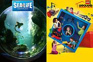 Gutschein für Je eine Tageskarte für die beiden Attraktionen in Oberhausen zum halben Preis! von Legoland Discovery Centre + Sea Life
