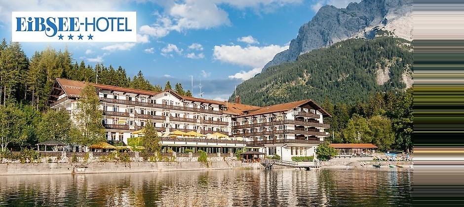 Gutschein für Einzigartig am Fuße der Zugspitze – die Übernachtung für 2 Personen zum halben Preis! von EIBSEE-HOTEL