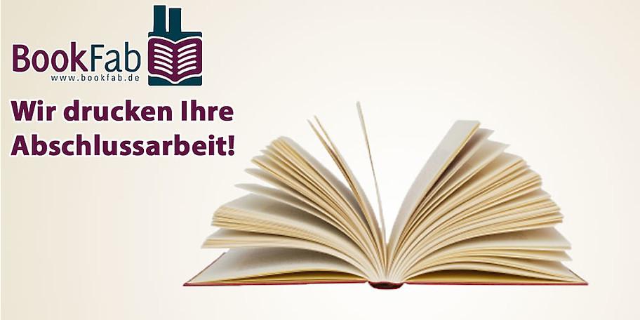 BookFab in Saarbrücken kümmert sich um Druck und Bindung Ihrer Abschlussarbeit