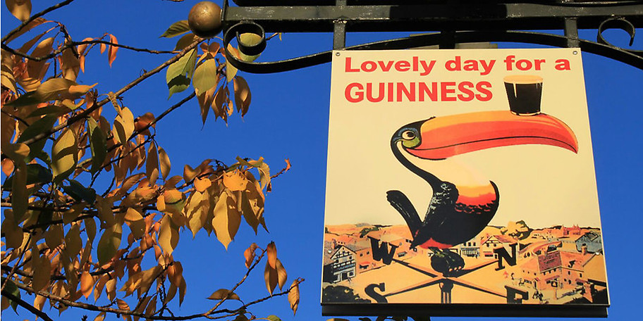 Lovley day for a GUINNESS im Scarriff Irish Pub in Solingen