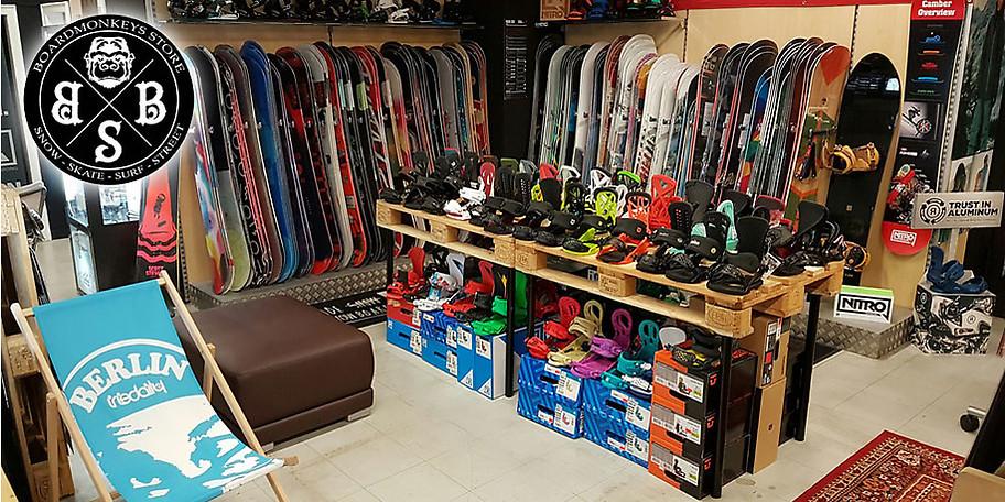 Snowboards, Bindungen, Boots und Outfits für die kalte Jahreszeit bei Boardmonkeys