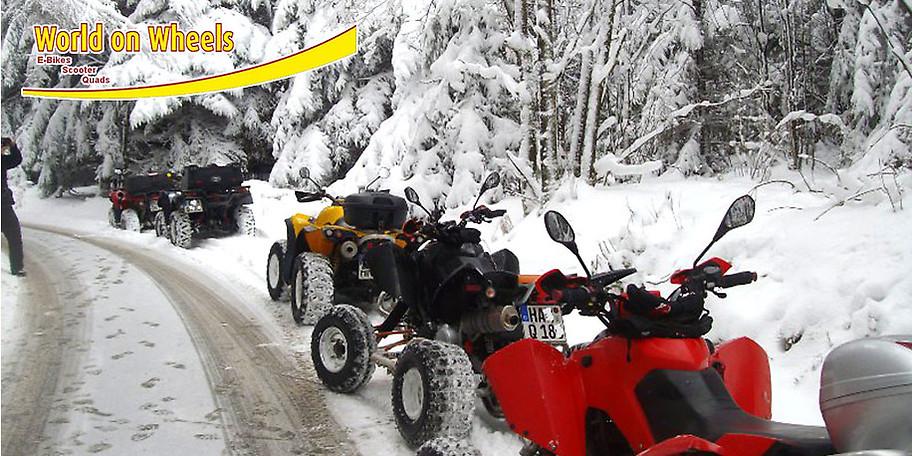 Winter-Quadtour mit Wolrd on Wheels - das perfekte Weihnachtschenk!