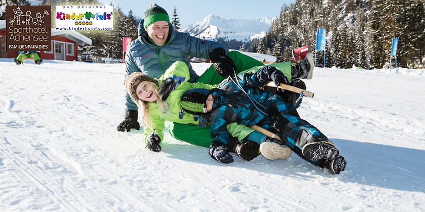 Gutschein für Ihr 4-Sterne-Kurzurlaub für die ganze Familie zum halben Preis! von Familienparadies Sporthotel Achensee****