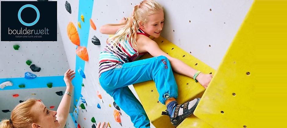 Gutschein für Dein Boulder-Ferienschnupperkurs zum halben Preis! von Boulderwelt Regensburg GmbH
