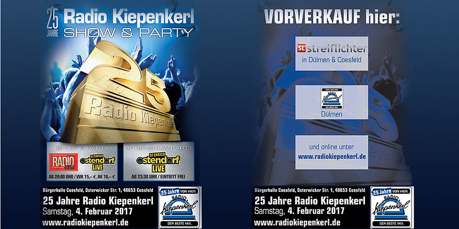 Wir feiern mit Ihnen 25 Jahre Radio Kiepenkerl