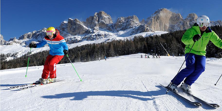 Skivergnügen für die ganze Familie im sonnenverwöhnten Familienskigebiet in Südtirol mit 8 Sonnenstunden pro Wintertag