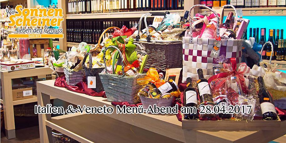 Ihr Gutschein für den Italien & Veneto Menü-Abend am 28.04.2017