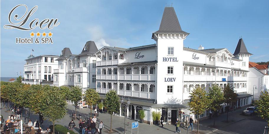 Wunderbare Außenansicht auf das Loev Hotel Rügen
