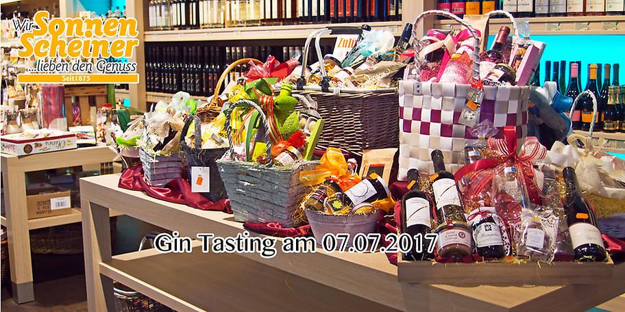 Ihr Gutschein für das Gin Tasting am 07.07.2017