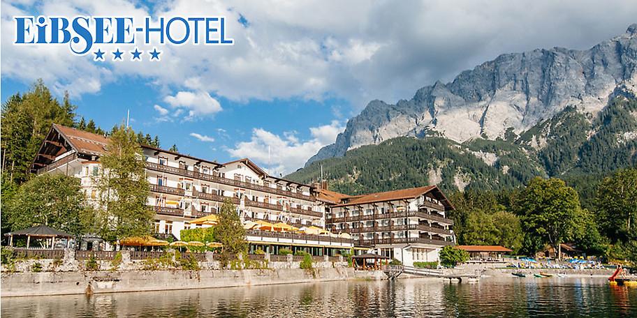 Atemberaubende Außenansicht des EIBSEE-HOTELS in Grainau