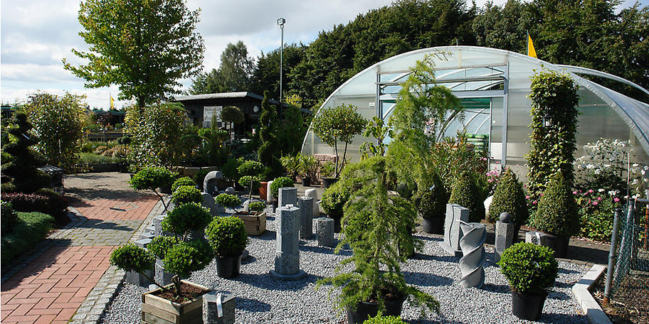 Auch Bäume, Sträucher, Stauden, Rosen, Obst und Wasserpflanzen sind in allen Mengen und Größen verfügbar