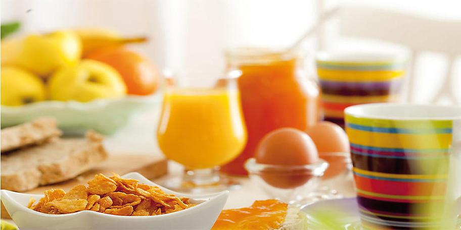 Das Frühstücksangebot kann sich sehen lassen!