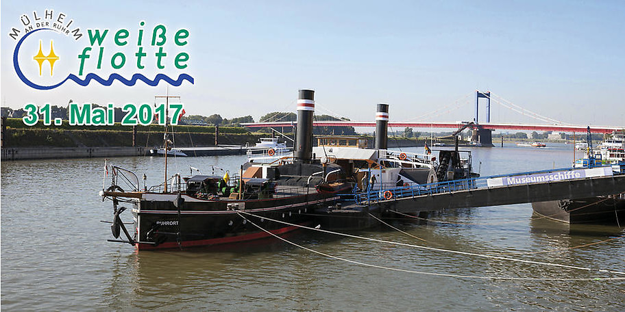 Hafenrundfahrt Duisburg mit Besuch des Museumsschiffes Oskar Huber am 31.05.2017