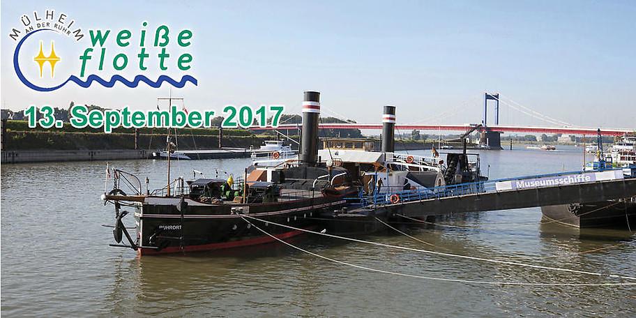 Hafenrundfahrt Duisburg mit Besuch des Museumsschiffes Oskar Huber am 13.09.2017