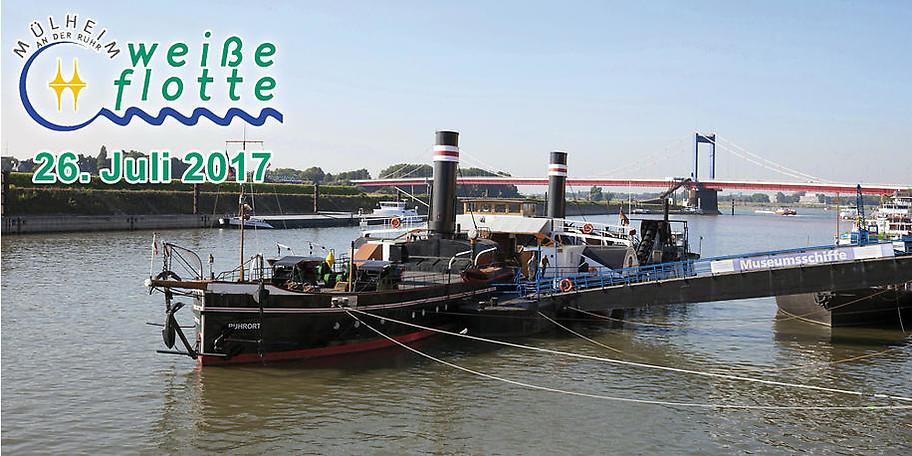 Hafenrundfahrt Duisburg mit Besuch des Museumsschiffes Oskar Huber am 26.07.2017