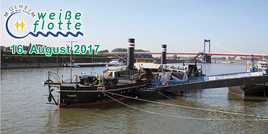 Hafenrundfahrt Duisburg mit Besuch des Museumsschiffes Oskar Huber am 16.08.2017