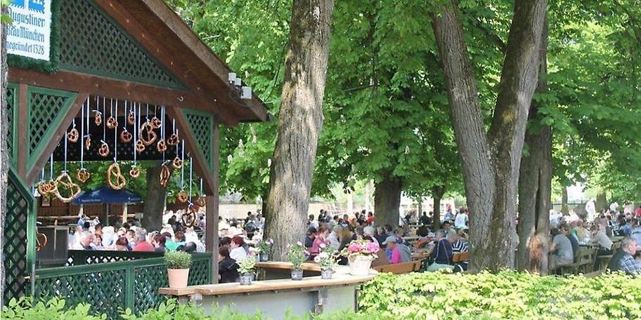 Der Biergarten in München-Sendling: Augustiner Schützengarten