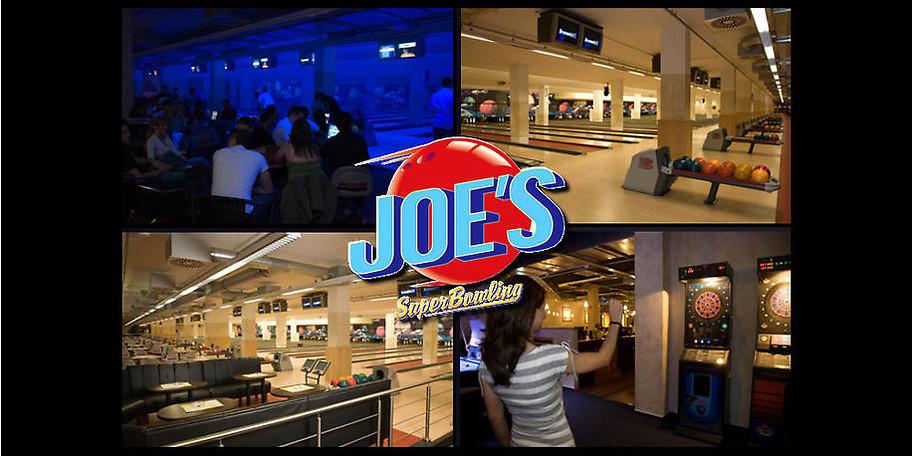 Willkommen im Joe's, dem Treffpunkt für Bowling, Cocktails und leckeres Essen