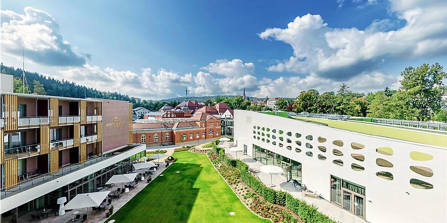 Wunderbarer Innenhof des Hotels König Albert in Bad Elster