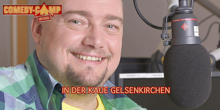 Gutschein für Zwei Tickets zum Preis von einem! Am 13.10.2017 in der KAUE Gelsenkirchen von Radio Emscher Lippe Comedy-Camp-Spezial
