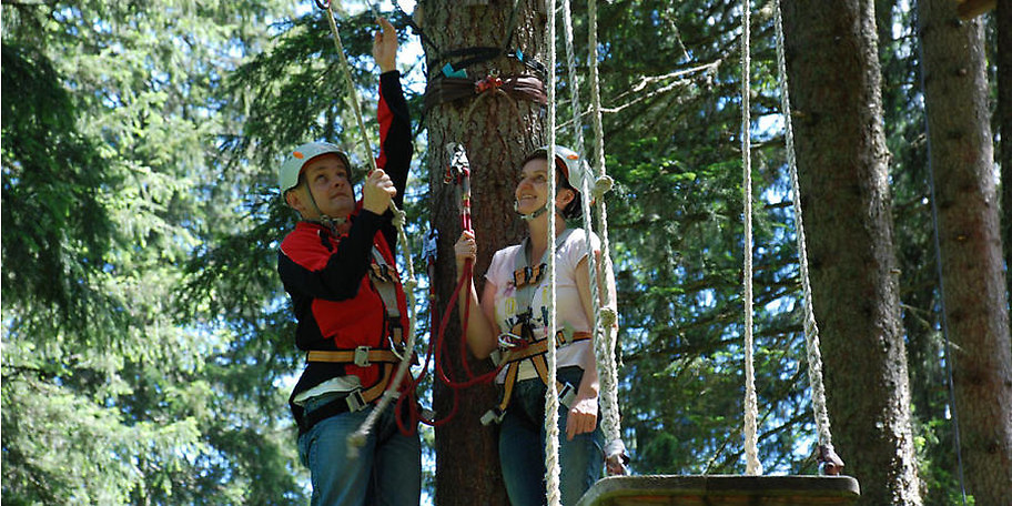 Es erwarten Sie 6 Kletterparcours in verschiedenen Schwierigkeitsgraden