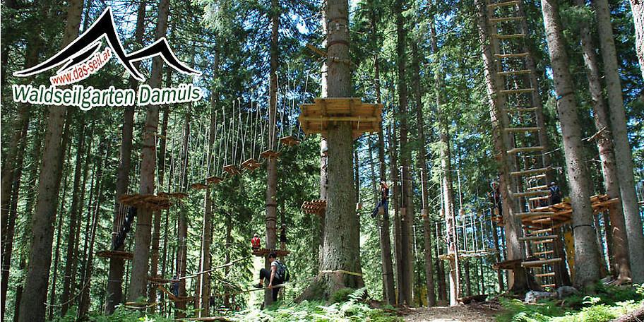 Herzlich Willkommen im Waldseilgarten Damüls