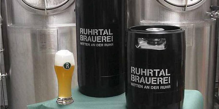 Frisches Bier aus der Ruhrtal Brauerei