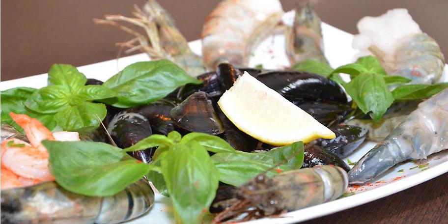 Genießen Sie unseren Meeresfrüchte-Teller