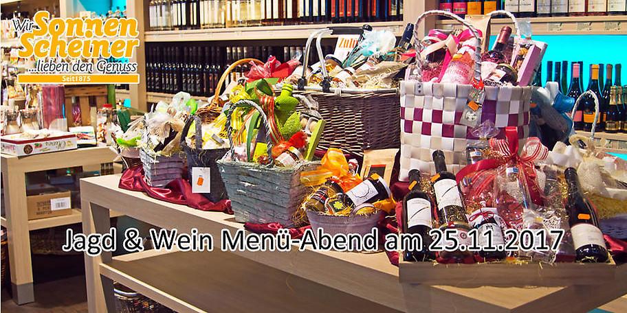 Jagd & Wein Menü-Abend am 25.11.2017
