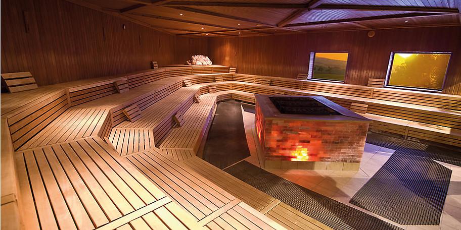 Entspannen Sie in Ziegelofen-Sauna