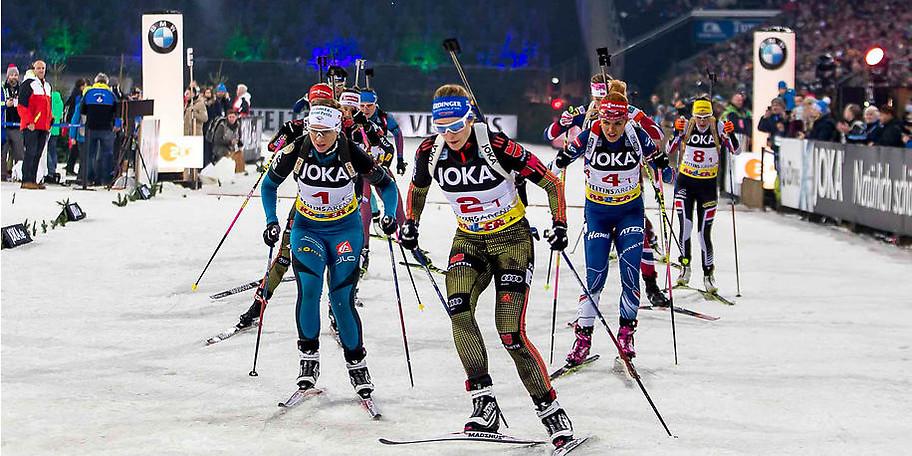 Die Biathlon-Elite trifft sich in der VELTINS-Arena zur JOKA Biathlon World Team Challenge