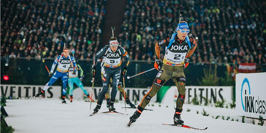 Jährlich werden in der VELTINS-Arena die Top-Athleten des Biathlonsports gefeiert