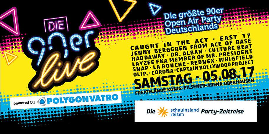 Die größte 90er Open Air Party Deutschlands in Oberhausen