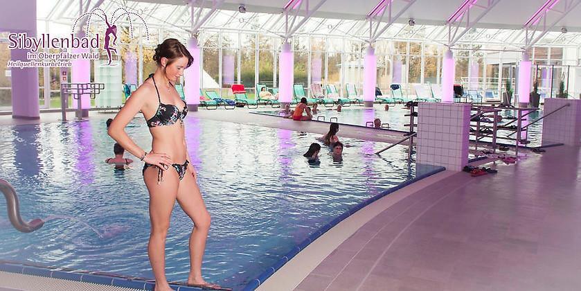 Gutschein für Ihre Tageskarte für die Bade- und Wellnesslandschaft zum halben Preis! von Kurmittelhaus Sibyllenbad