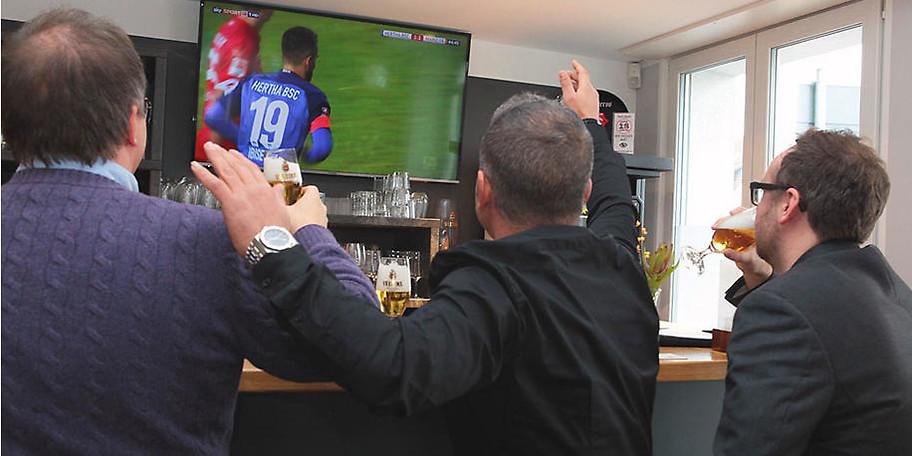 Alle Spiele der Bundesliga werden im Haus Haarzopf in Essen live via SKY übertragen