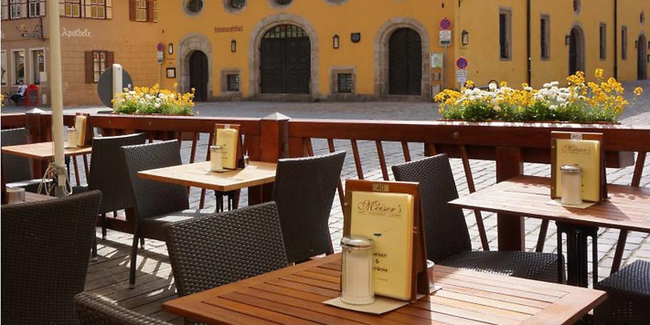 Herrliche Sonnenterrasse in Meiser's Café & Restaurant