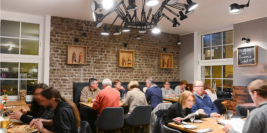 Das Mezzo Mezzo bietet einen direkten Blick auf die Zeche Zollverein in Essen
