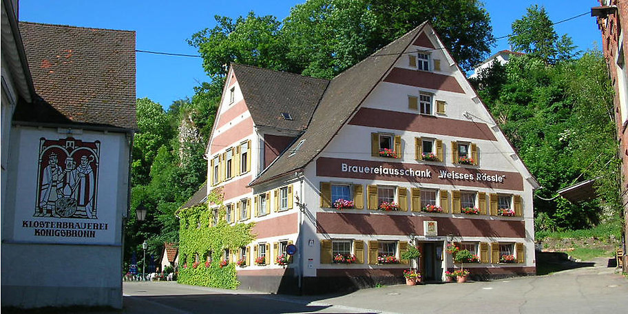 Außenansicht Gasthof Weisses Rössle in Königsbronn