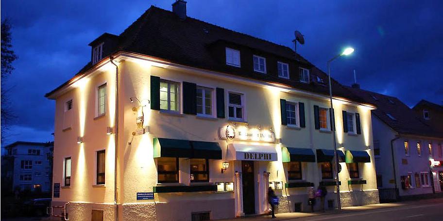 Außenansicht Restaurant Delphi in Aalen