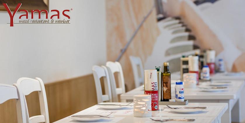 Gutschein für Ihr Gutschein für das erste Mezé Restaurant im Ruhrgebiet von Yamas Mezé Restaurant & Weinbar