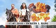Gutschein für 2 Tickets 1. Rang zum Preis von einem für den 17.07.2018 von Karl May - Festspiele