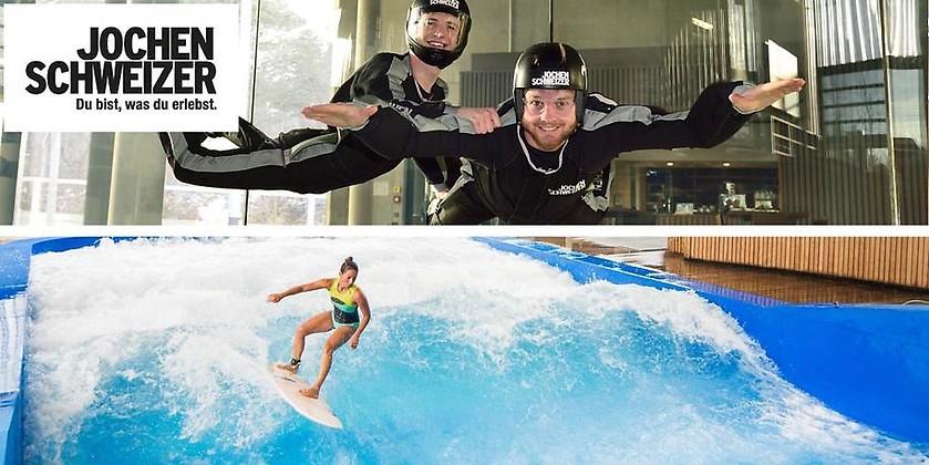 Gutschein für Surf & Fly Anytime – nur für kurze Zeit zum halben Preis abheben und surfen! von Jochen Schweizer Arena