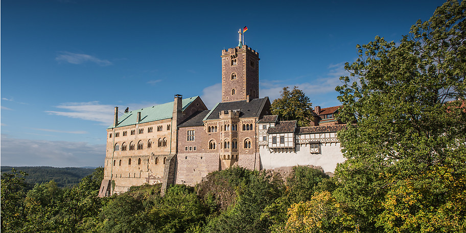 Besuchen Sie die Warburg, das Wahrzeichen von Eisenach