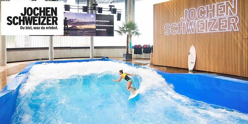 Gutschein für Die ganze Welle exklusiv Anytime – nur für kurze Zeit zum halben Preis surfen! von Jochen Schweizer Arena