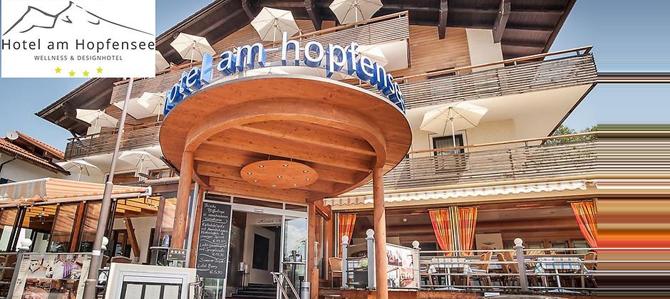 Gutschein für Entspannen vor dem traumhaften Alpenpanorama - 7 Übernachtungen für 2 Personen im Doppelzimmer Comfort von Hotel am Hopfensee