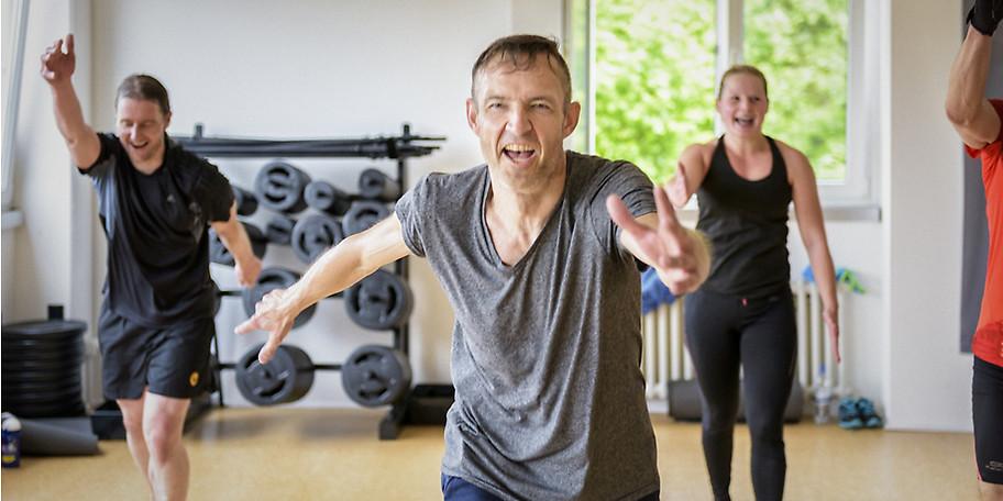 The Gym bietet geführte Zirkel und Workouts für jedes Fitness Level an
